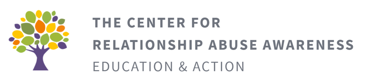 the center for relationship abuse awareness education & action logo