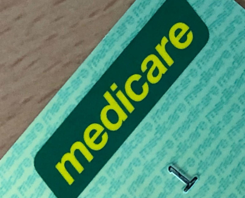 Medicare logo on an Australian Medicare card