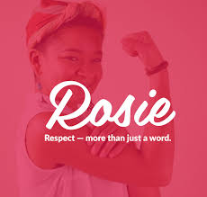 rosie respect - more than just a word logo