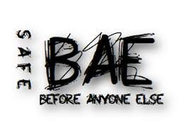 safe b a e before anyone else logo