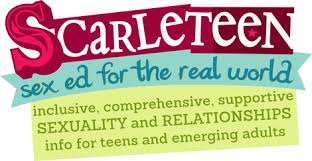 scarleteen sex ed for the real world: inclusive, comprehensive, support sexuality and relationships info for teens and emerging adults logo