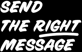 send the right message logo