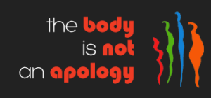 the body is not an apology logo